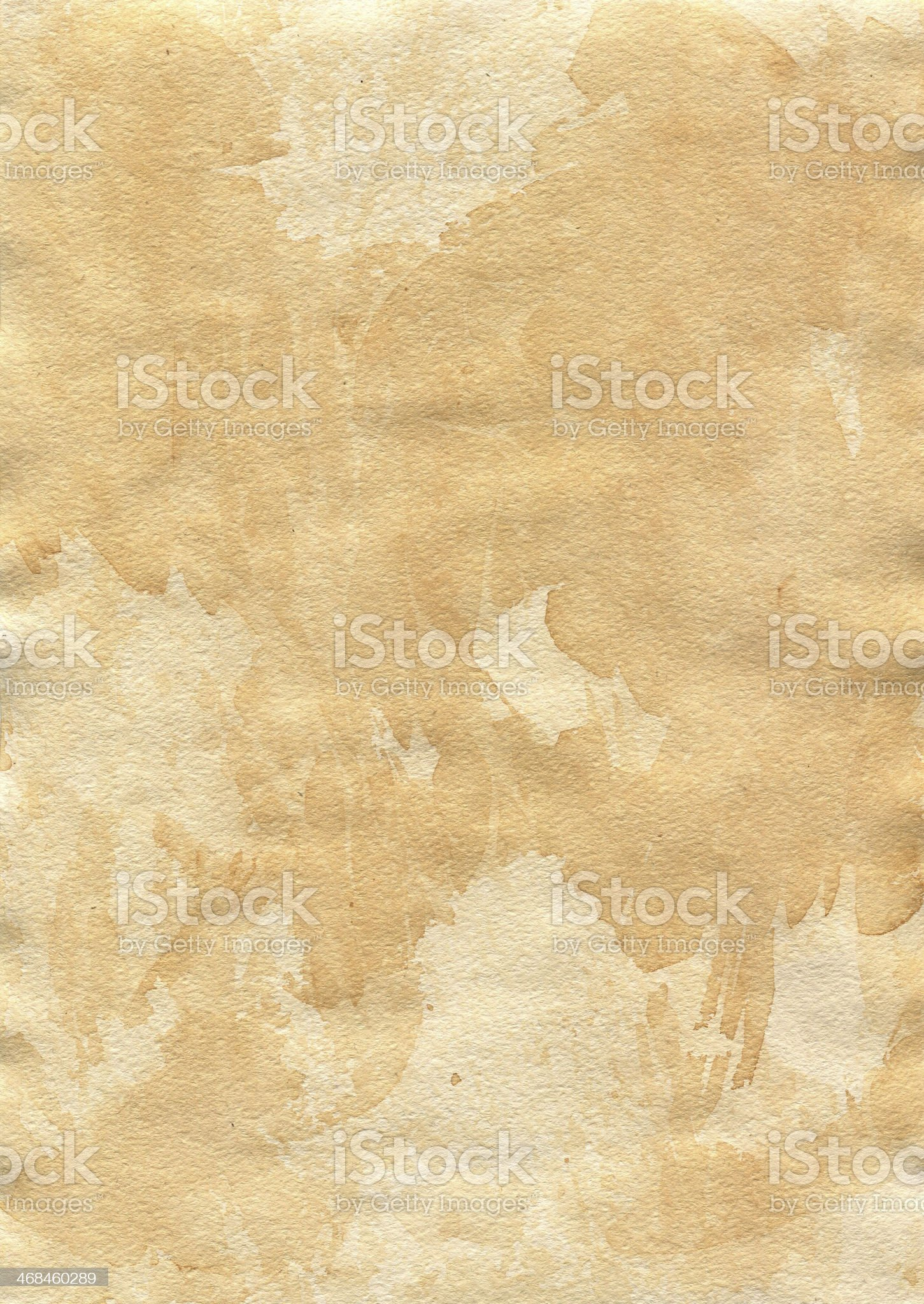 Old shabby paper. Entire sheet impregnated tea. royalty-free stock photo