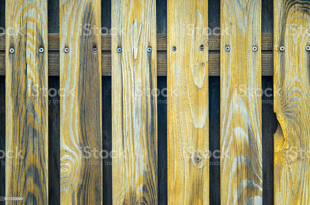 Old Shabby Wooden Fence stock photo