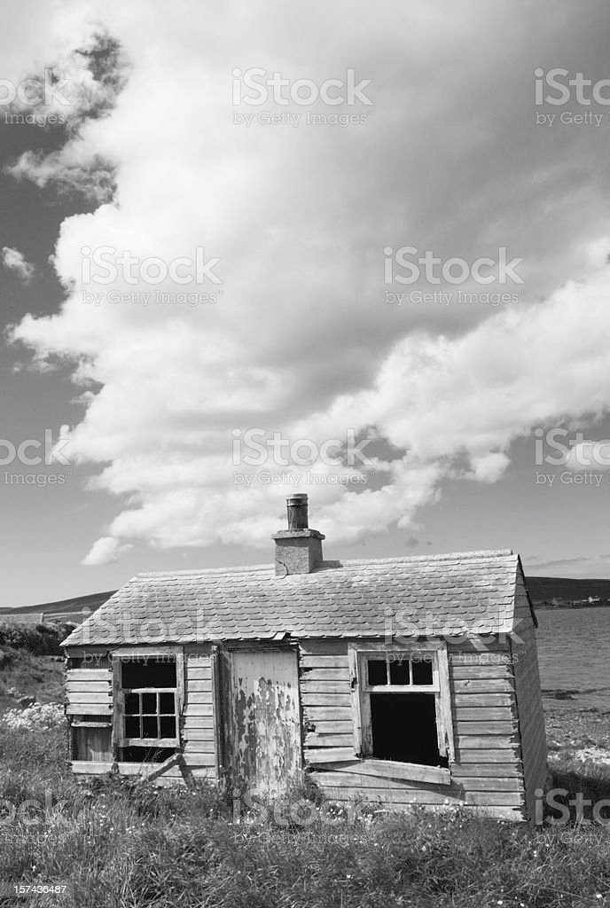 Old shack stock photo