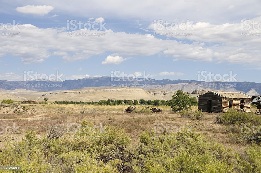 Old Shack, Wyoming royalty-free stock photo