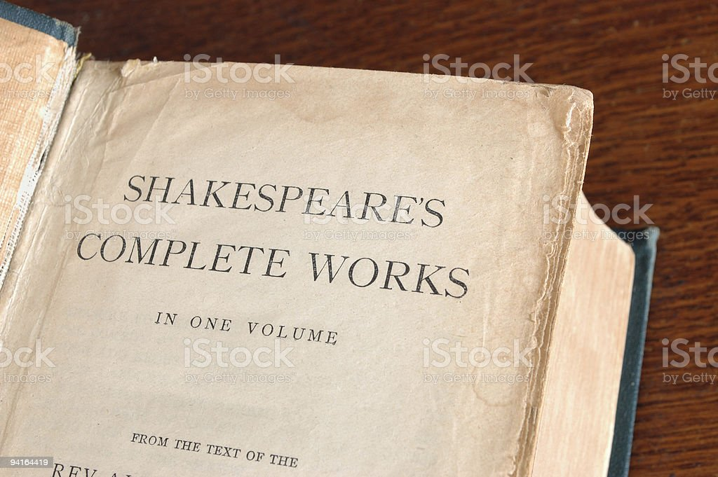 Old Shakespeare Book stock photo