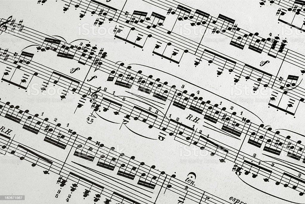 Old sheet music royalty-free stock photo
