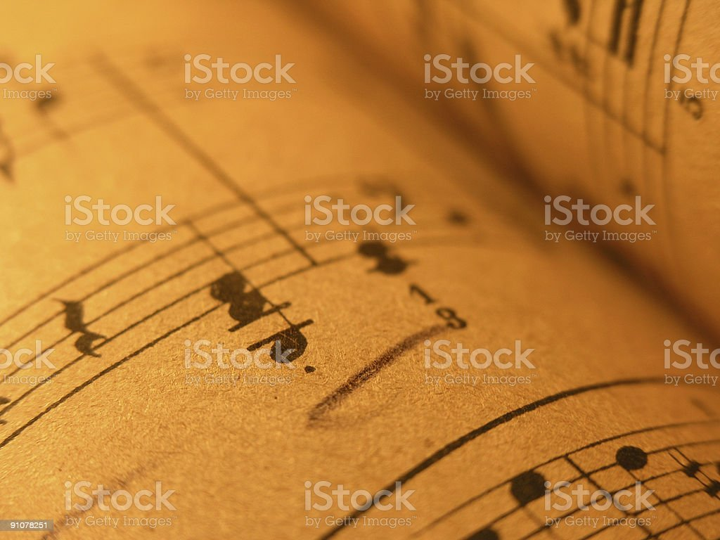 Old Sheet Music royalty-free stock photo