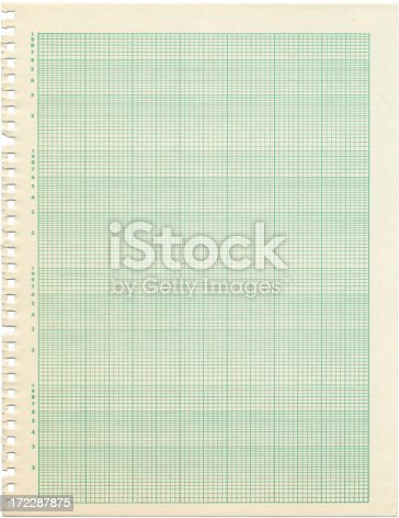 Old Sheet Of Semilog Graph Paper Stock Photo 172287875 | Istock