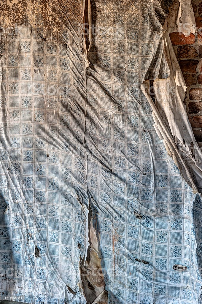 Old sheet on wall royalty-free stock photo