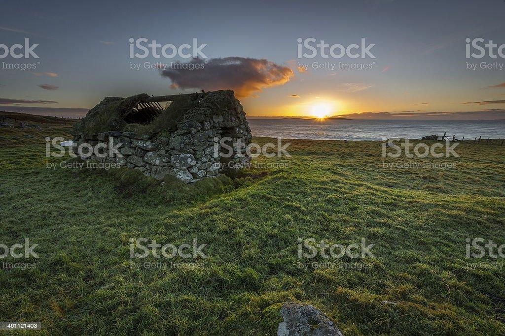 Old Shetland royalty-free stock photo