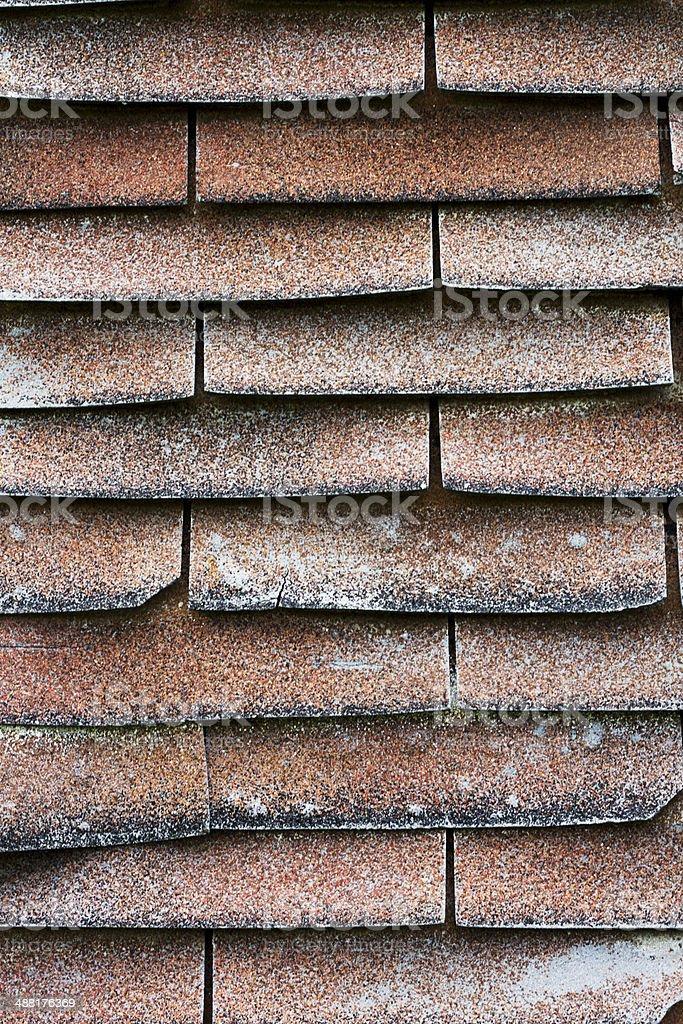 Old Shingle Roof royalty-free stock photo