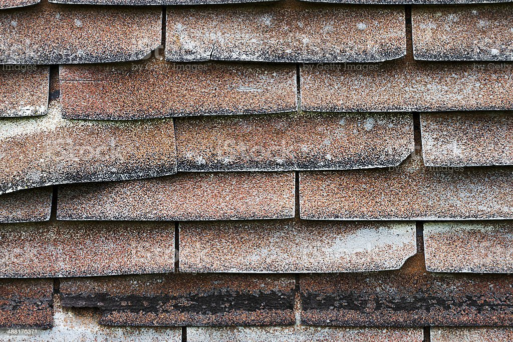 Old Shingle Roof royalty-free stock photo