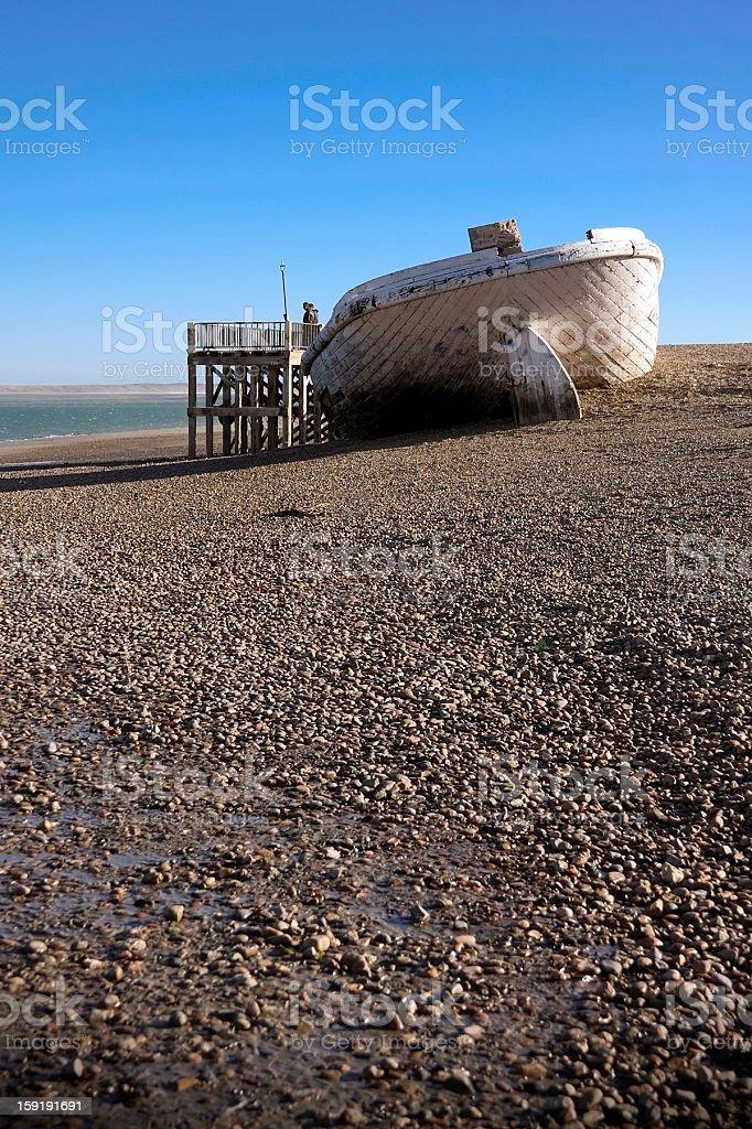 Old ship abandoned royalty-free stock photo