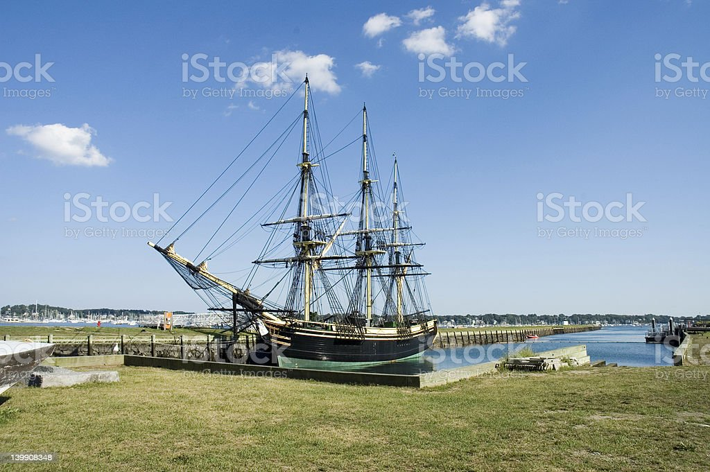 Old ship in Salem, USA royalty-free stock photo