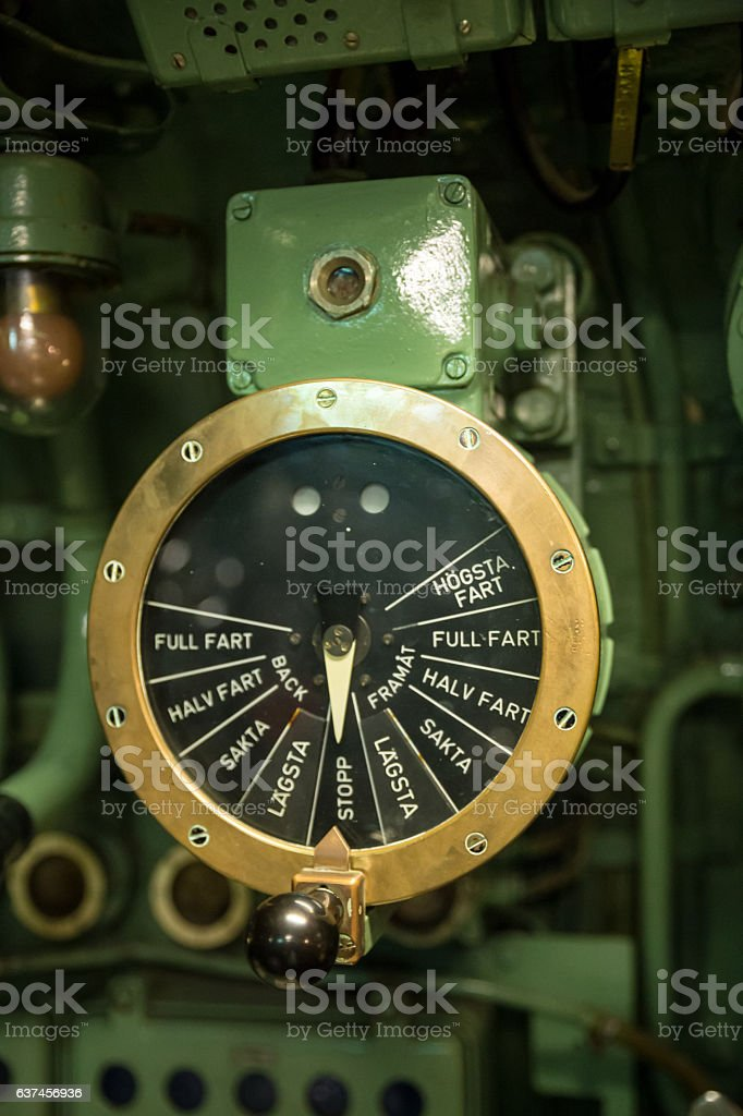 Old Ship Throttle Speed Control stock photo