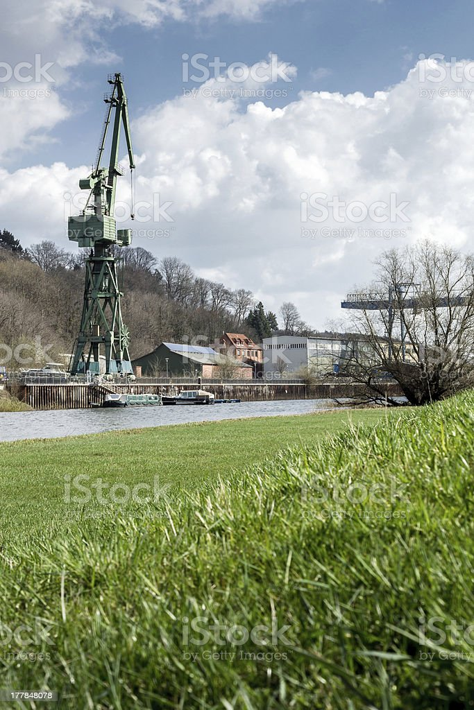 old Shipyard in Germany stock photo