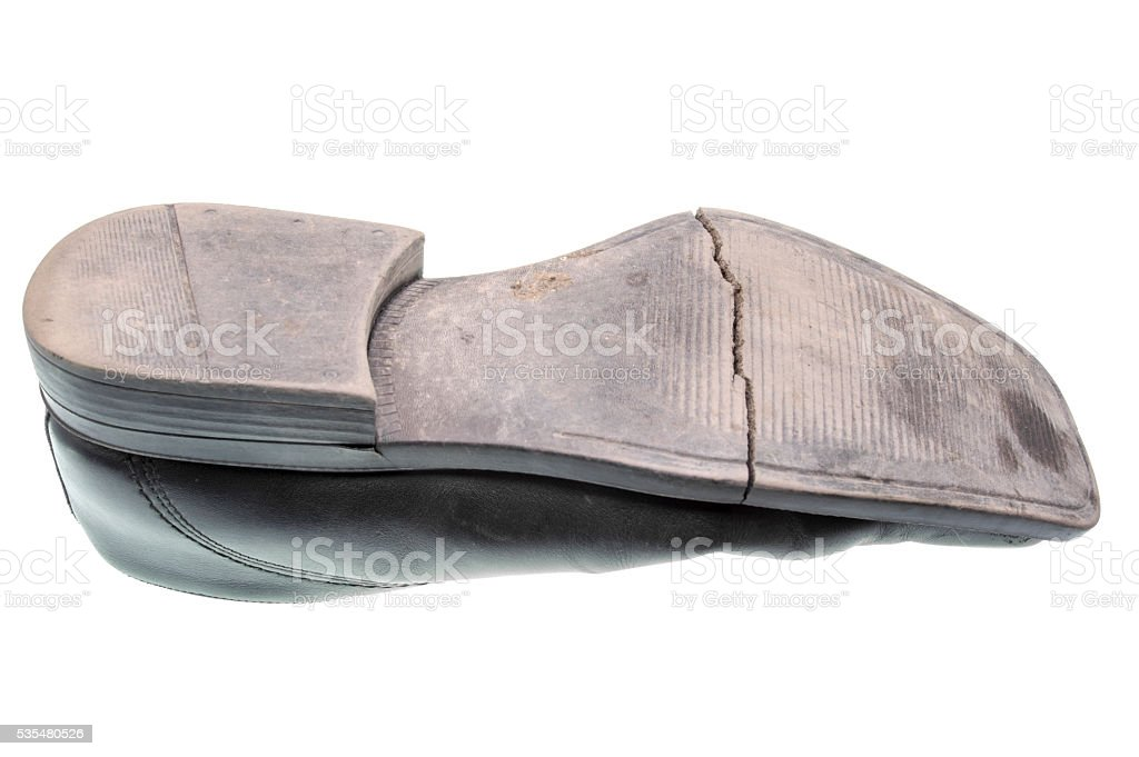 Old shoe sole stock photo