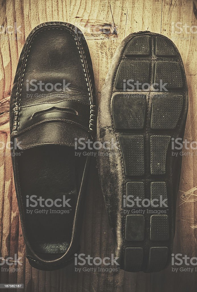 Old Shoes stock photo