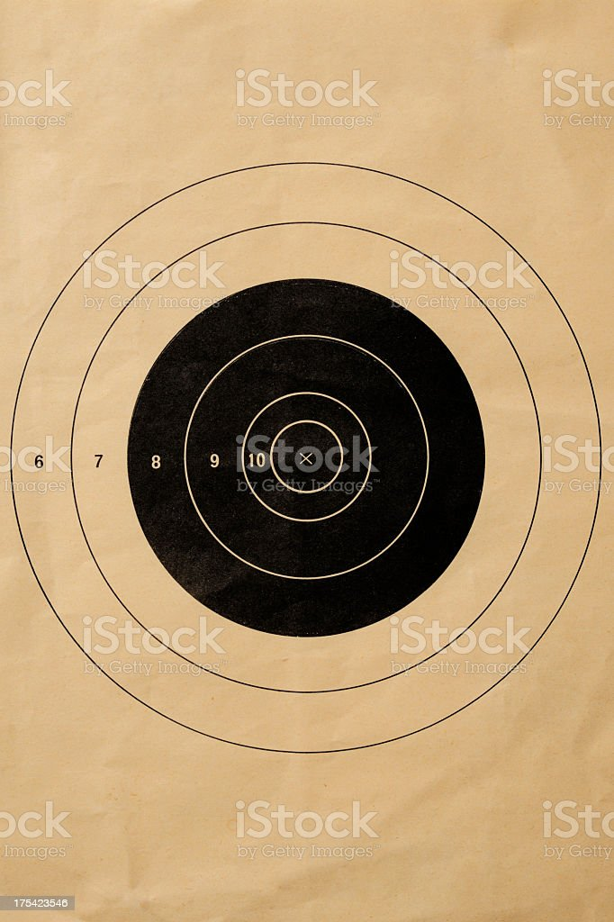 Old shooting target background stock photo