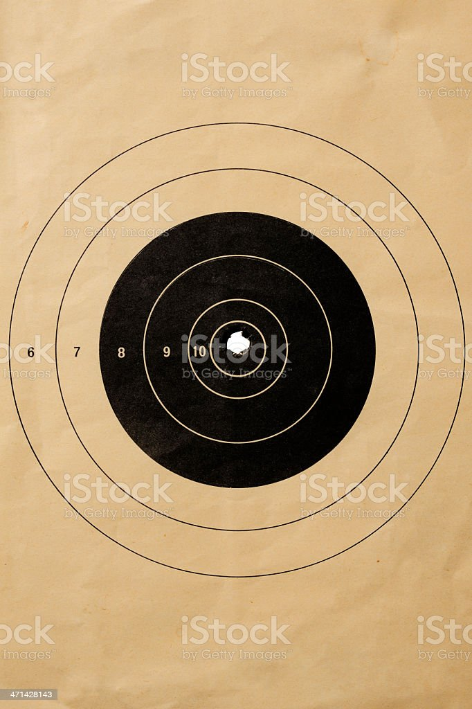 Old shooting target background royalty-free stock photo