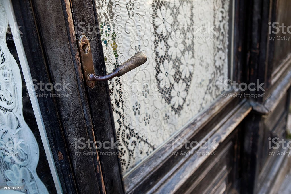 Old shop in France stock photo