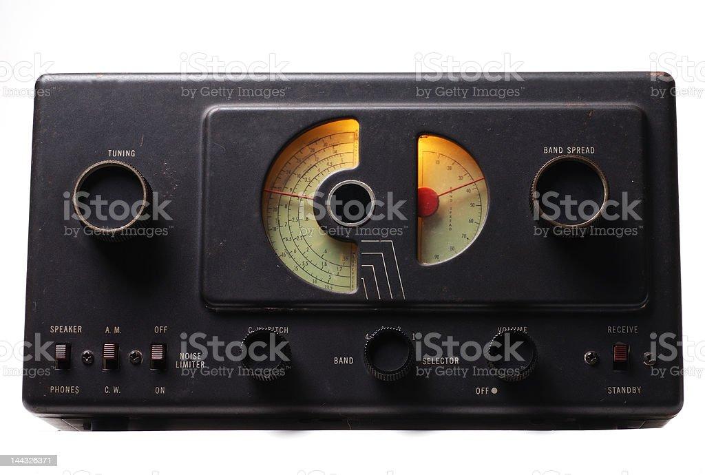 Old Shortwave Radio stock photo