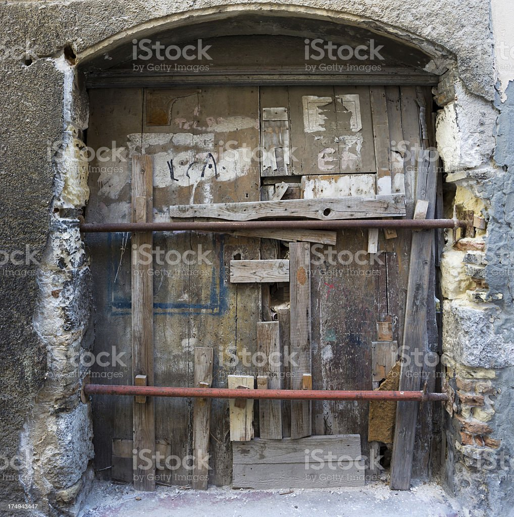 Old shut door royalty-free stock photo