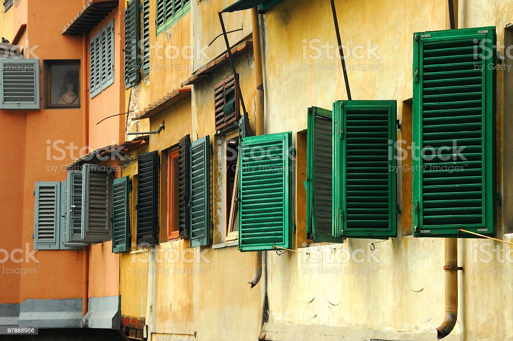 ponte Vecchio Shutters royalty-free stock photo