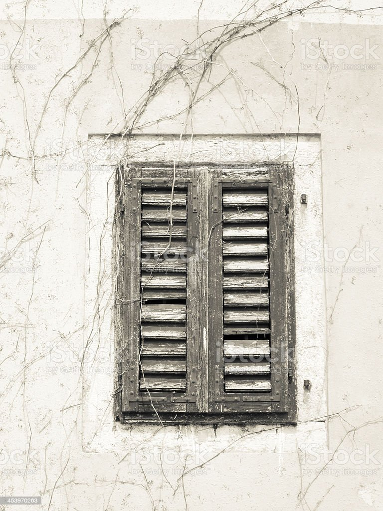 old shutters closed stock photo