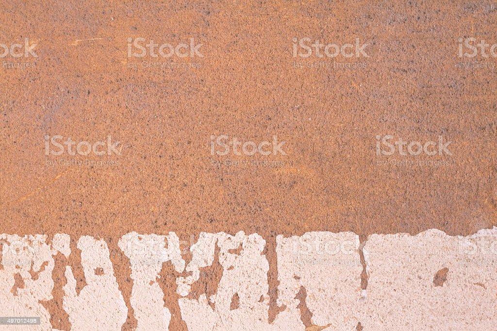 Old Sicilian Wall Background: Brownish-Orange-White and Peeling stock photo