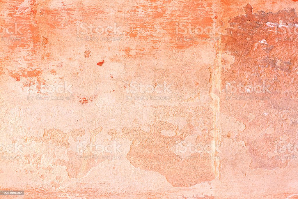 Old Sicilian Wall Background: Pinkish-Orange and Mottled stock photo