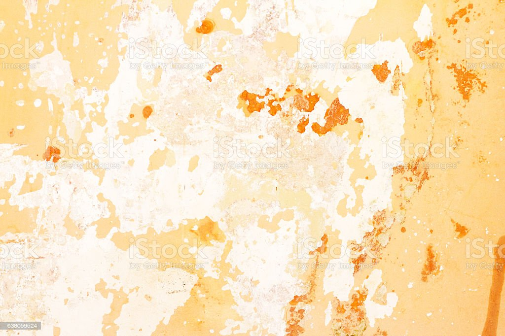 Old Sicilian Wall Background Texture: White, Yellow and Orange stock photo