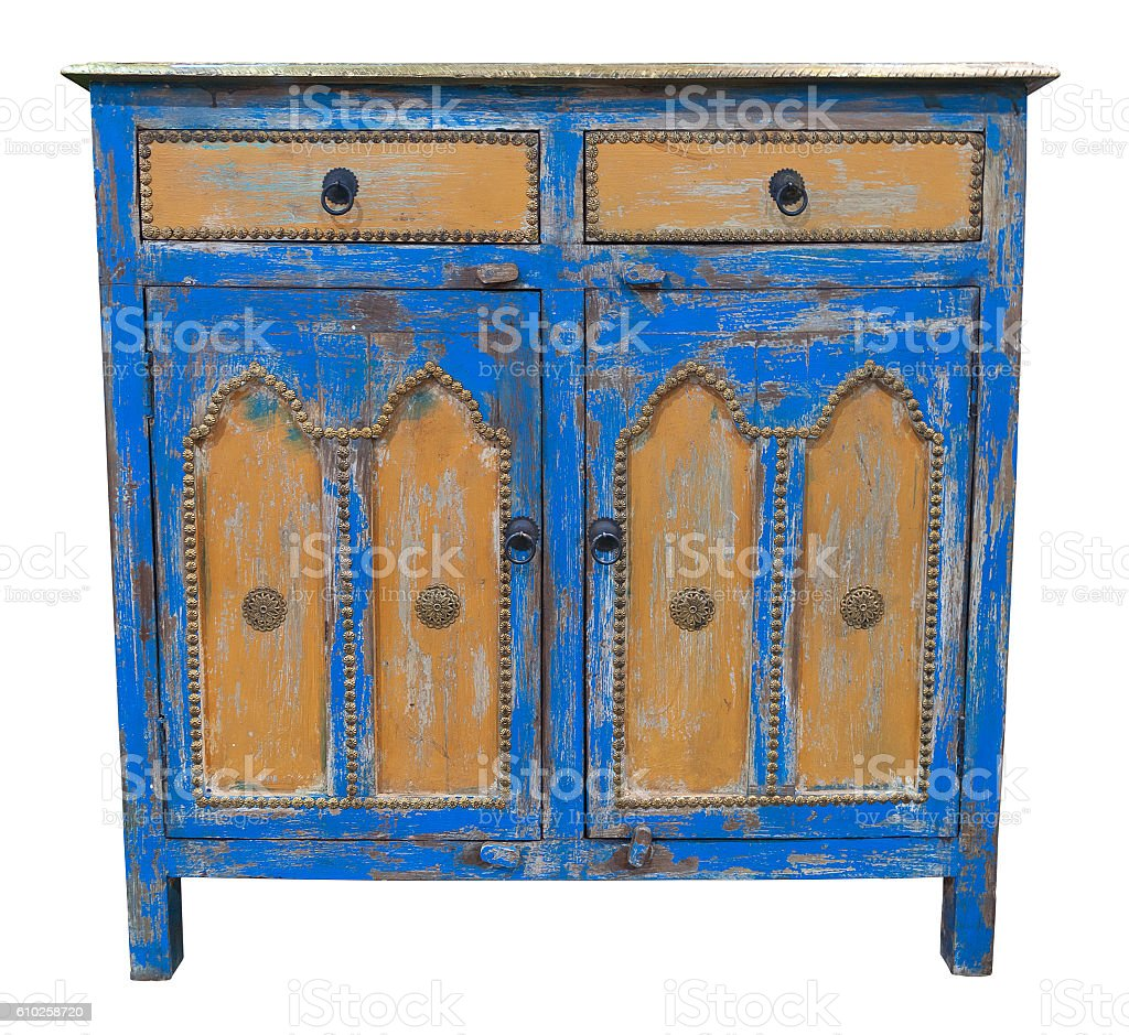 Old sideboard stock photo