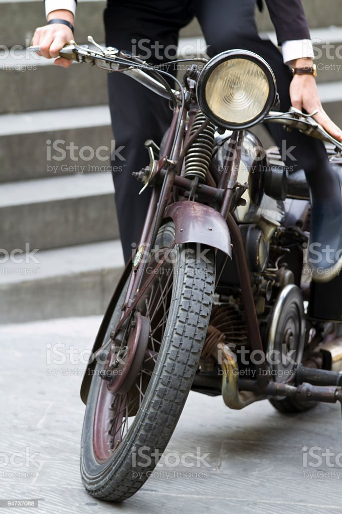 Old  sidecar stock photo
