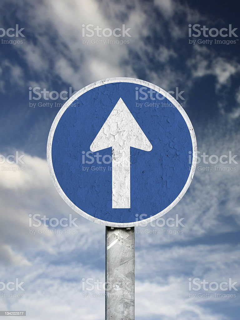 Old sign to heaven royalty-free stock photo