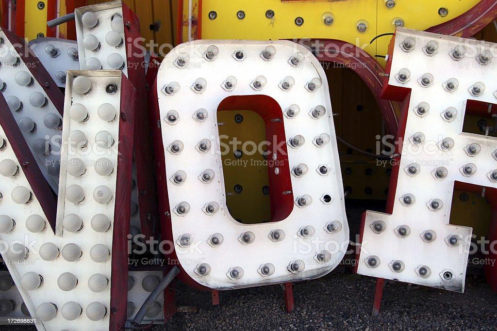 Old Signage stock photo