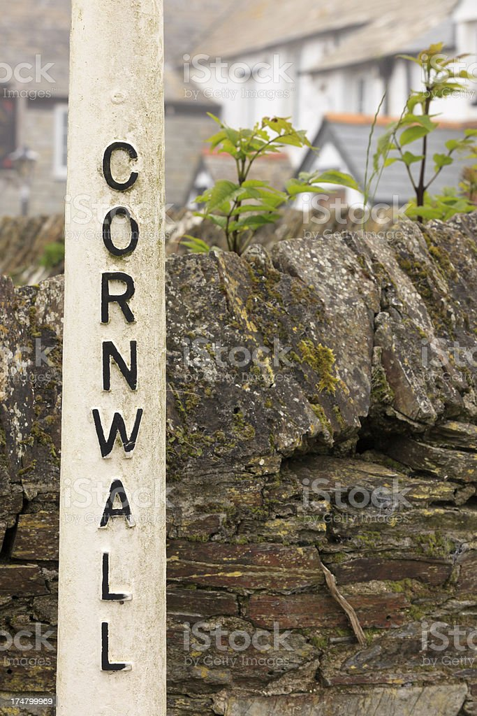 old signpost in Cornwall royalty-free stock photo