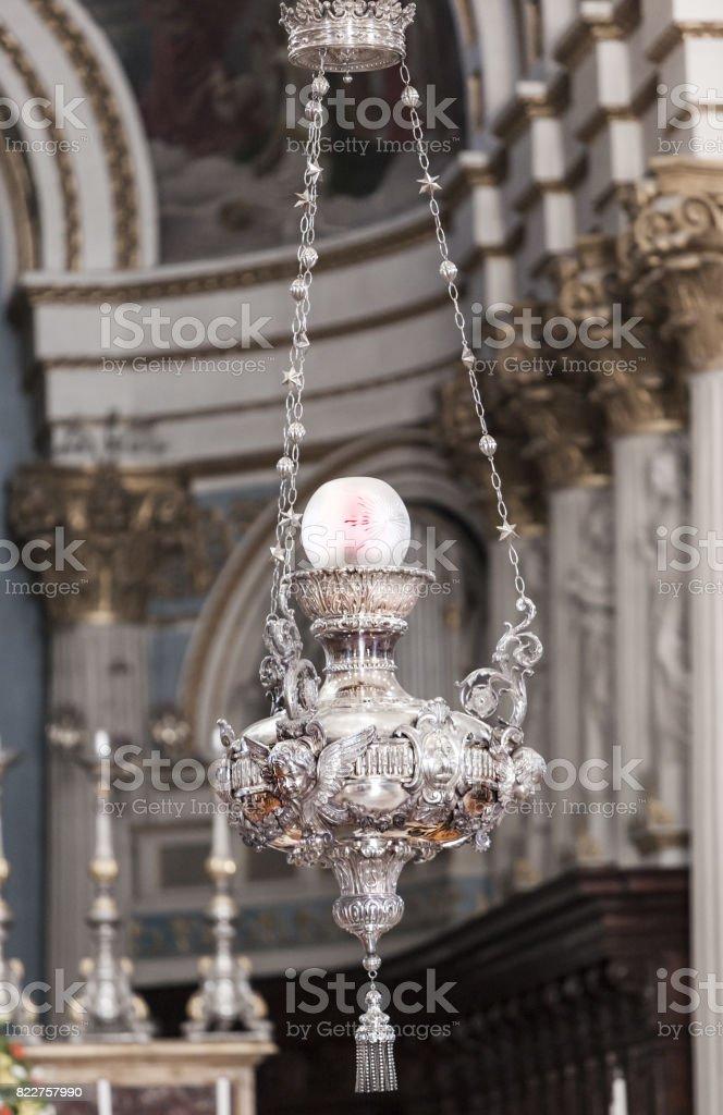 Old silk lustre in Mosta, Malta stock photo