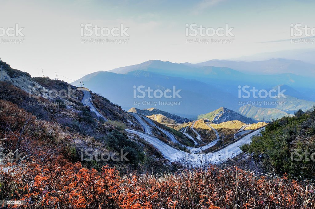 Old Silk Route, Zuluk (Dzuluk), Sikkim stock photo