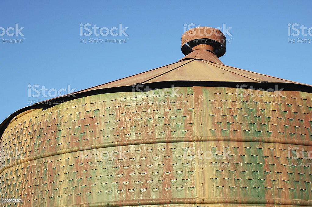 Old silo with grunge royalty-free stock photo