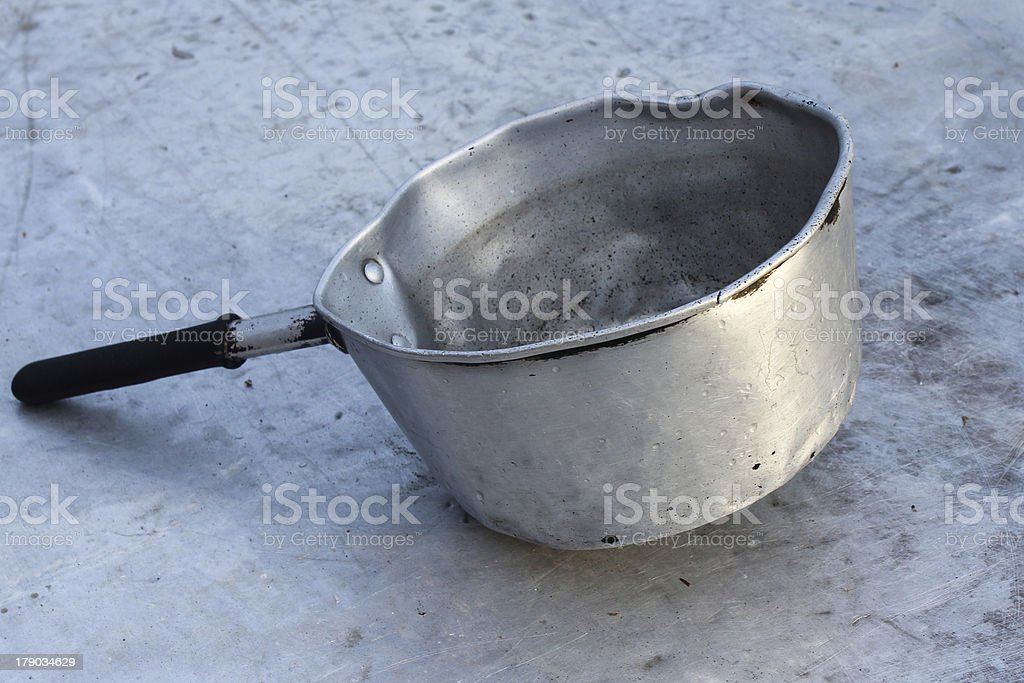 Old silver metal bowl royalty-free stock photo