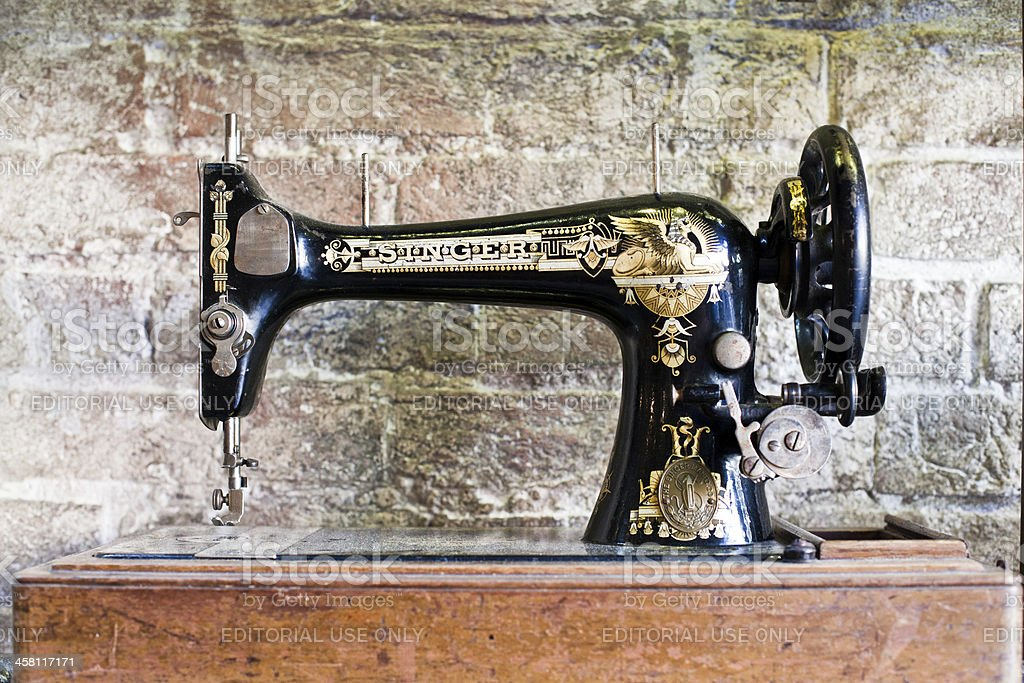 Old Singer Sewing Machine stock photo