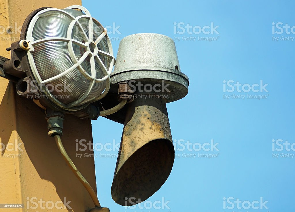 Old siren stock photo