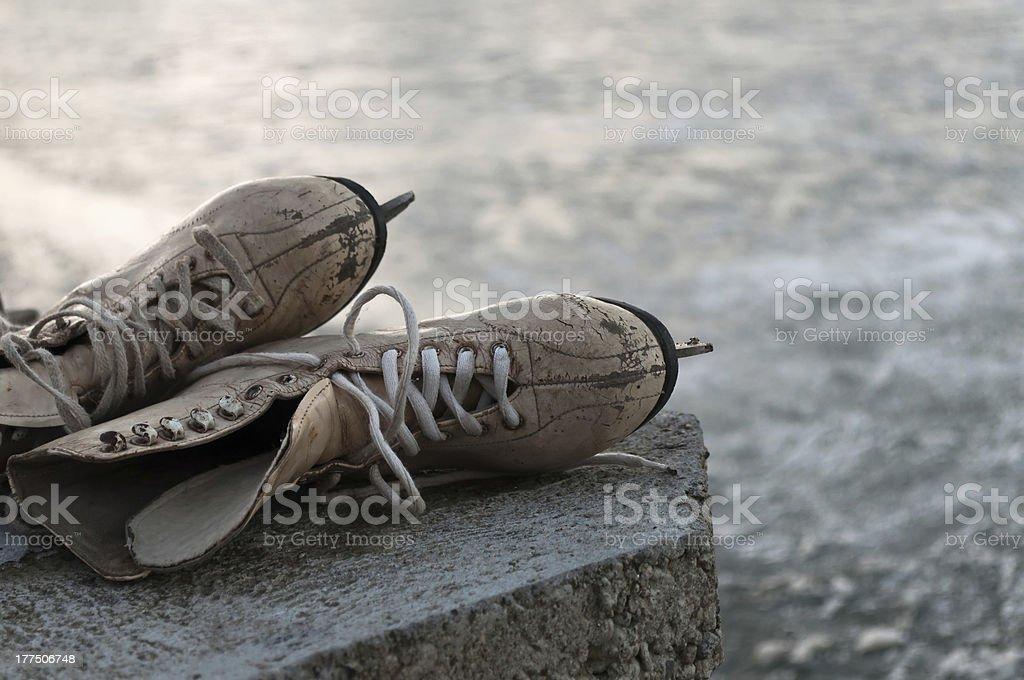 Old skates royalty-free stock photo
