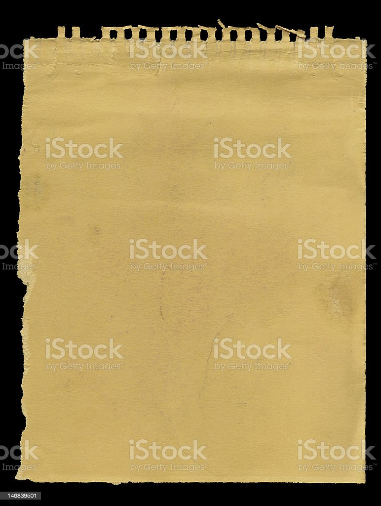 Old sketchbook page royalty-free stock photo