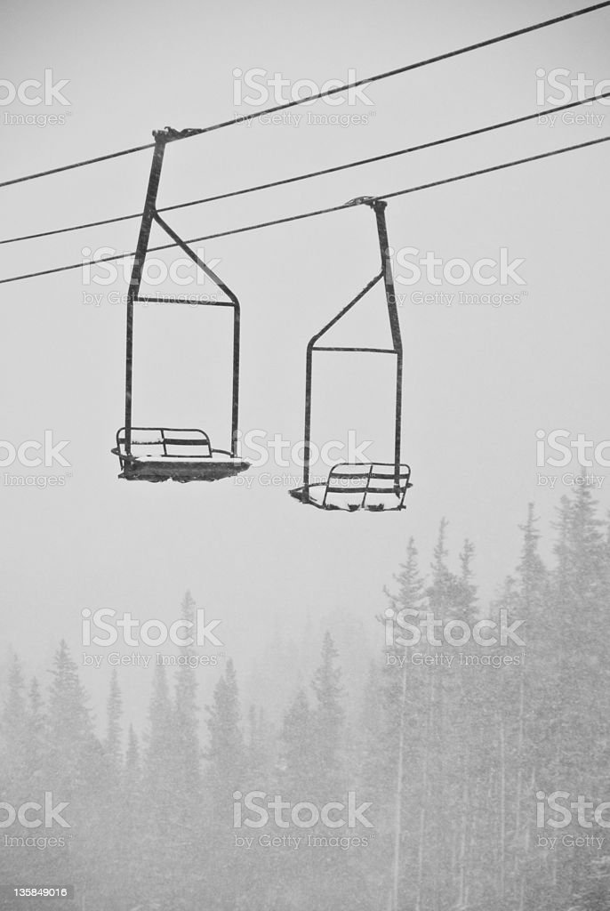 Old Ski Lift royalty-free stock photo