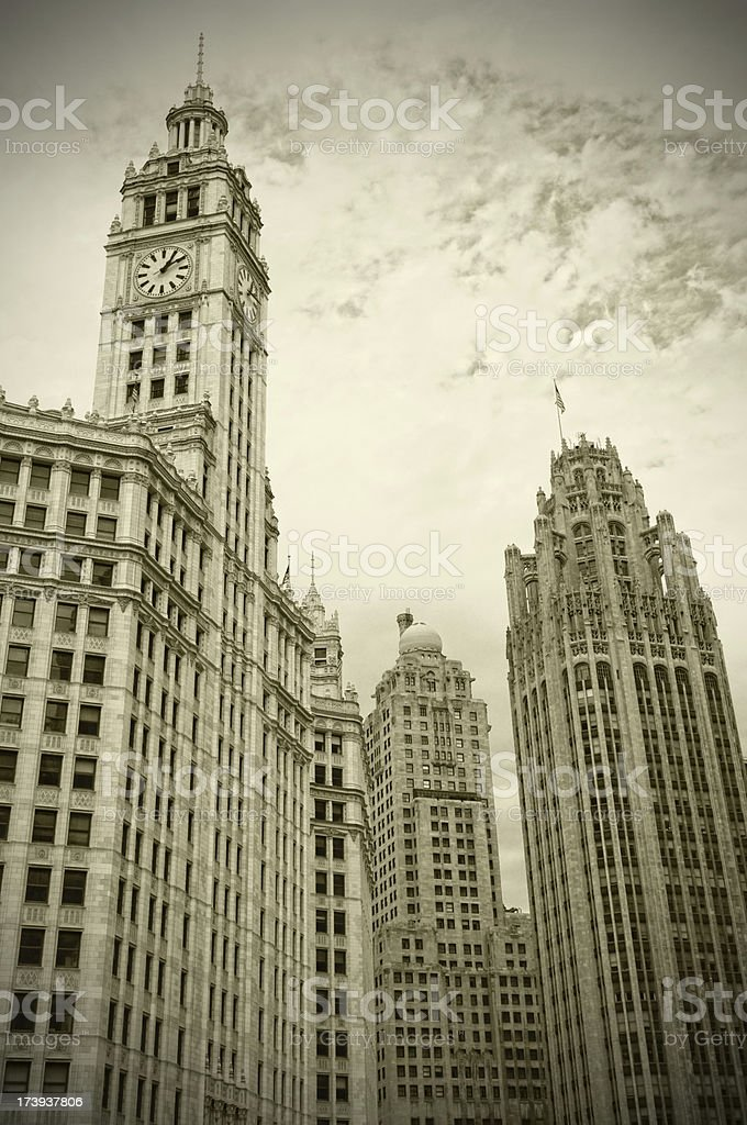 Old Skyscrapers stock photo