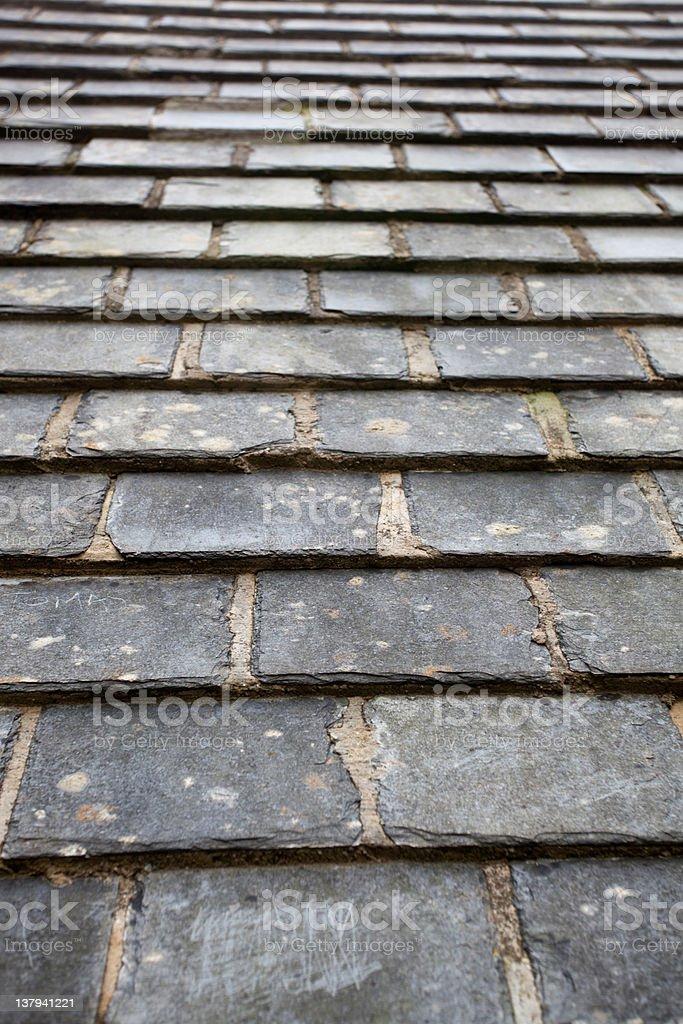 旧スレートの屋根 ロイヤリティフリーストックフォト