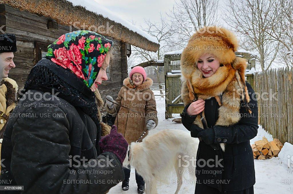 Old Slavonic holiday Kalyada stock photo