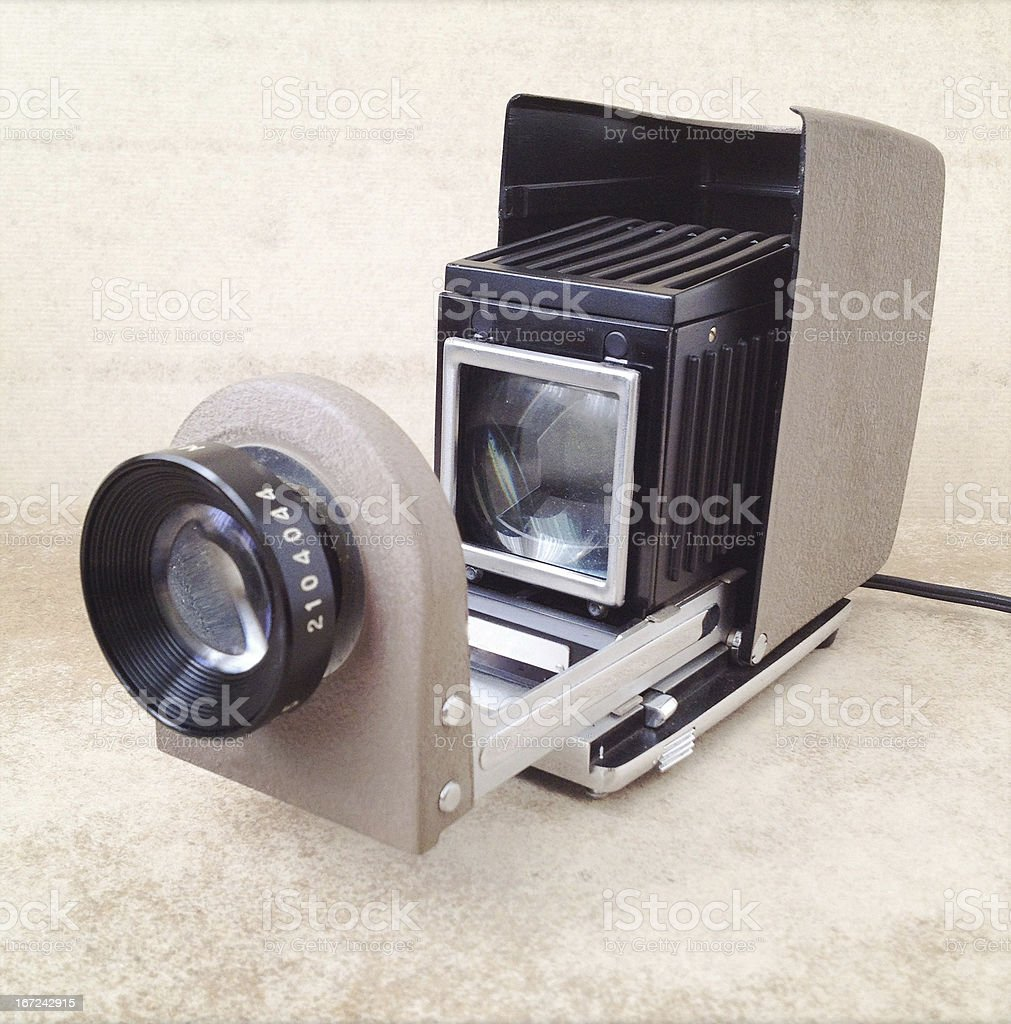 old slide projection stock photo