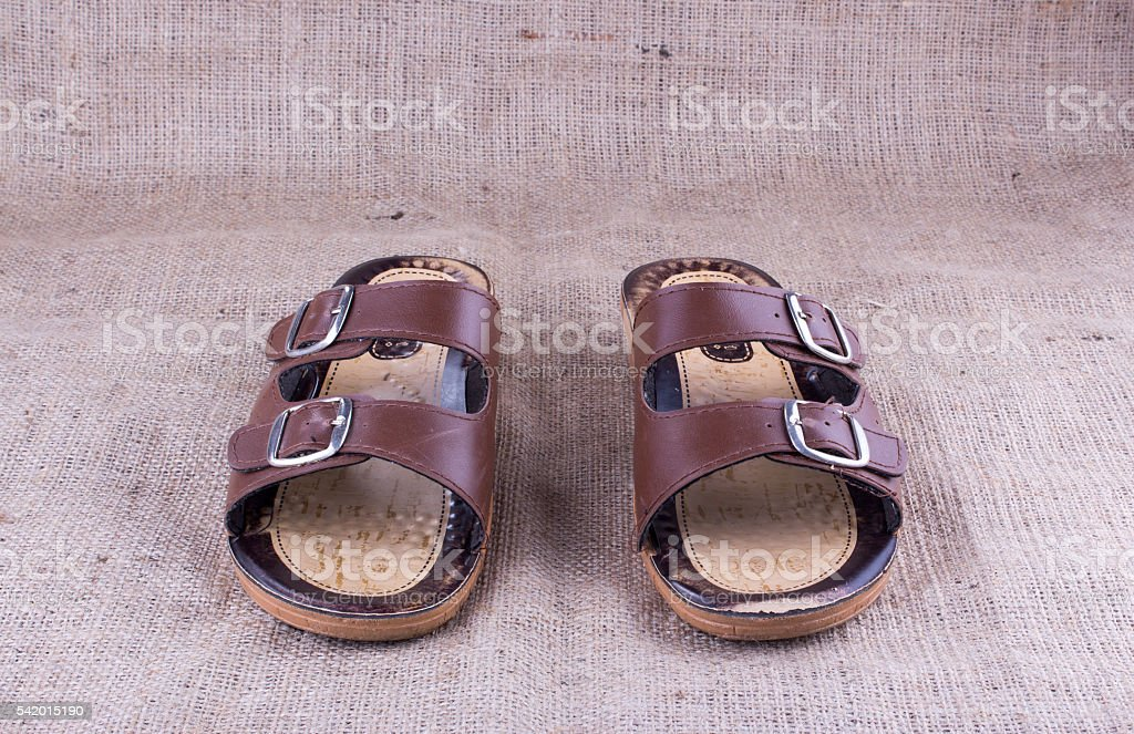 old slippers stock photo