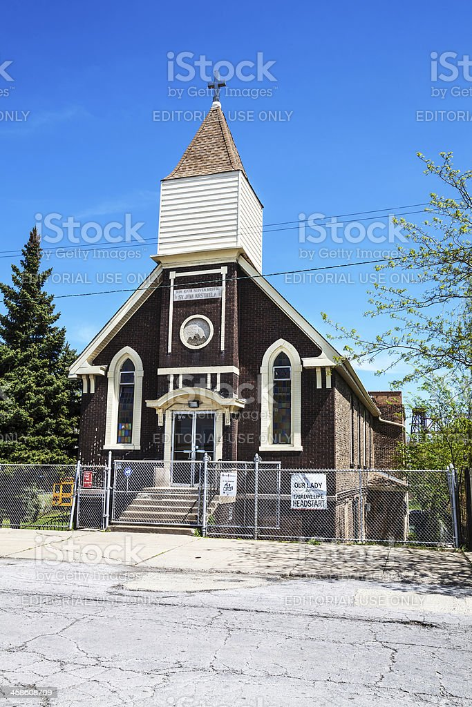 Old Slovak Church in South Cicago stock photo