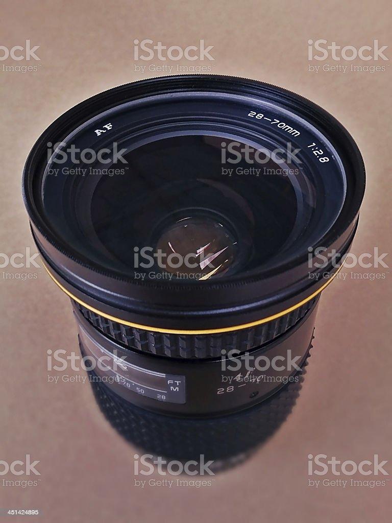 Old SLR Camera Lens stock photo