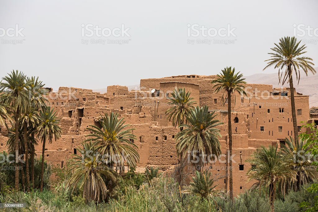 old small Moroccan village stock photo